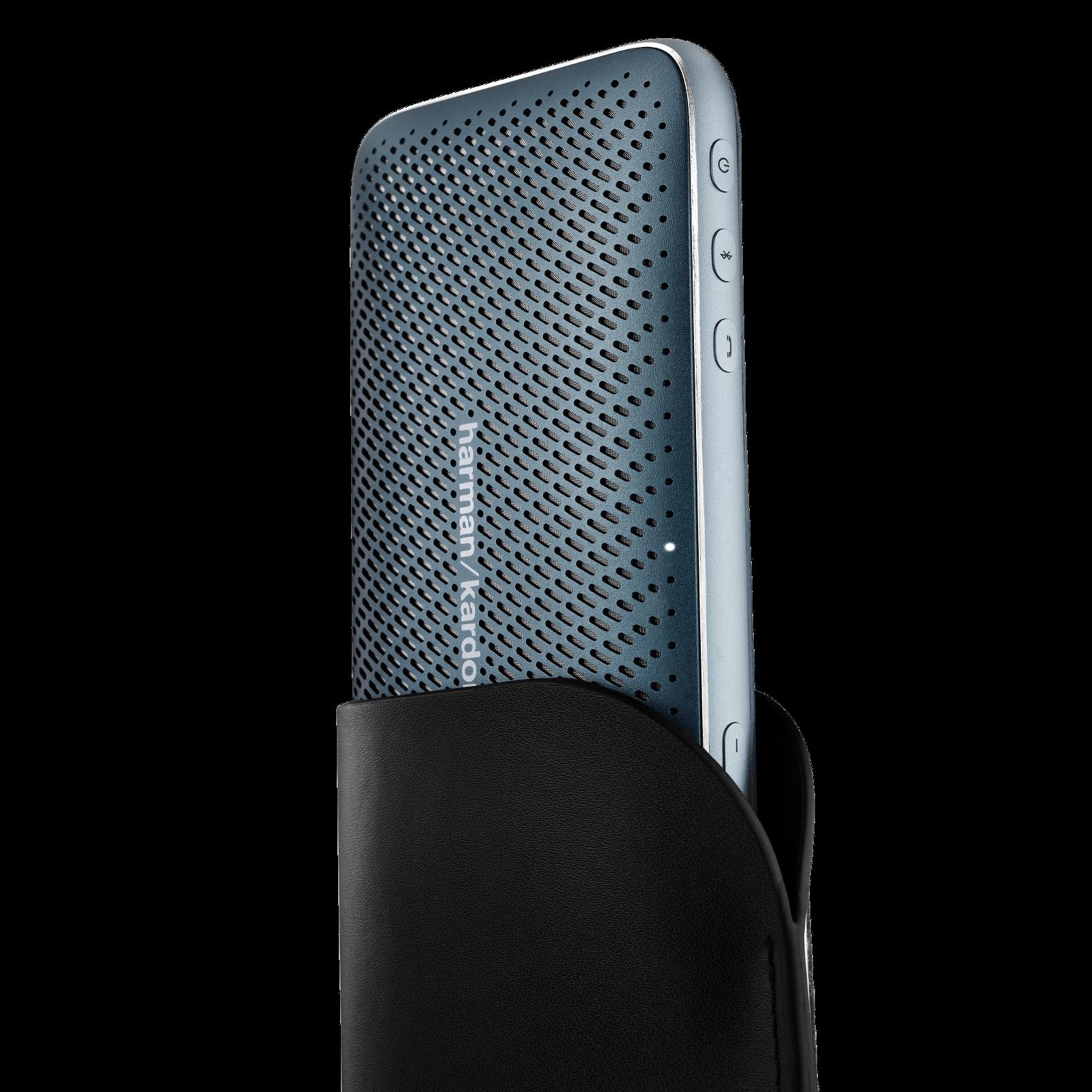 Harman Kardon Esquire Mini 2 - Blue - Ultra-slim and portable premium Bluetooth Speaker - Detailshot 1